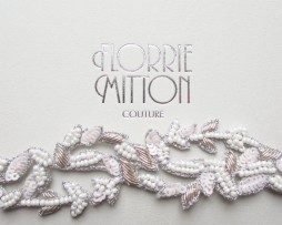 Florrie Mitton Aphrodite Bridal Garter in white