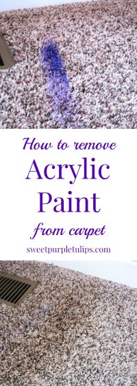 How to remove acrylic paint from carpet - Sweet Purple Tulips