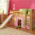 Girls princess castle loft bed eclectic kids beds by sweet