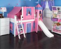 Hot Pink Princess Castle Bed with Slide by Maxtrix Kids (370)