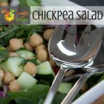 Day 16 of Salad a Day Chickpea Salad What can't you do with chickpeas? You can eat them hot or cold, straight from the can when drained and rinsed.