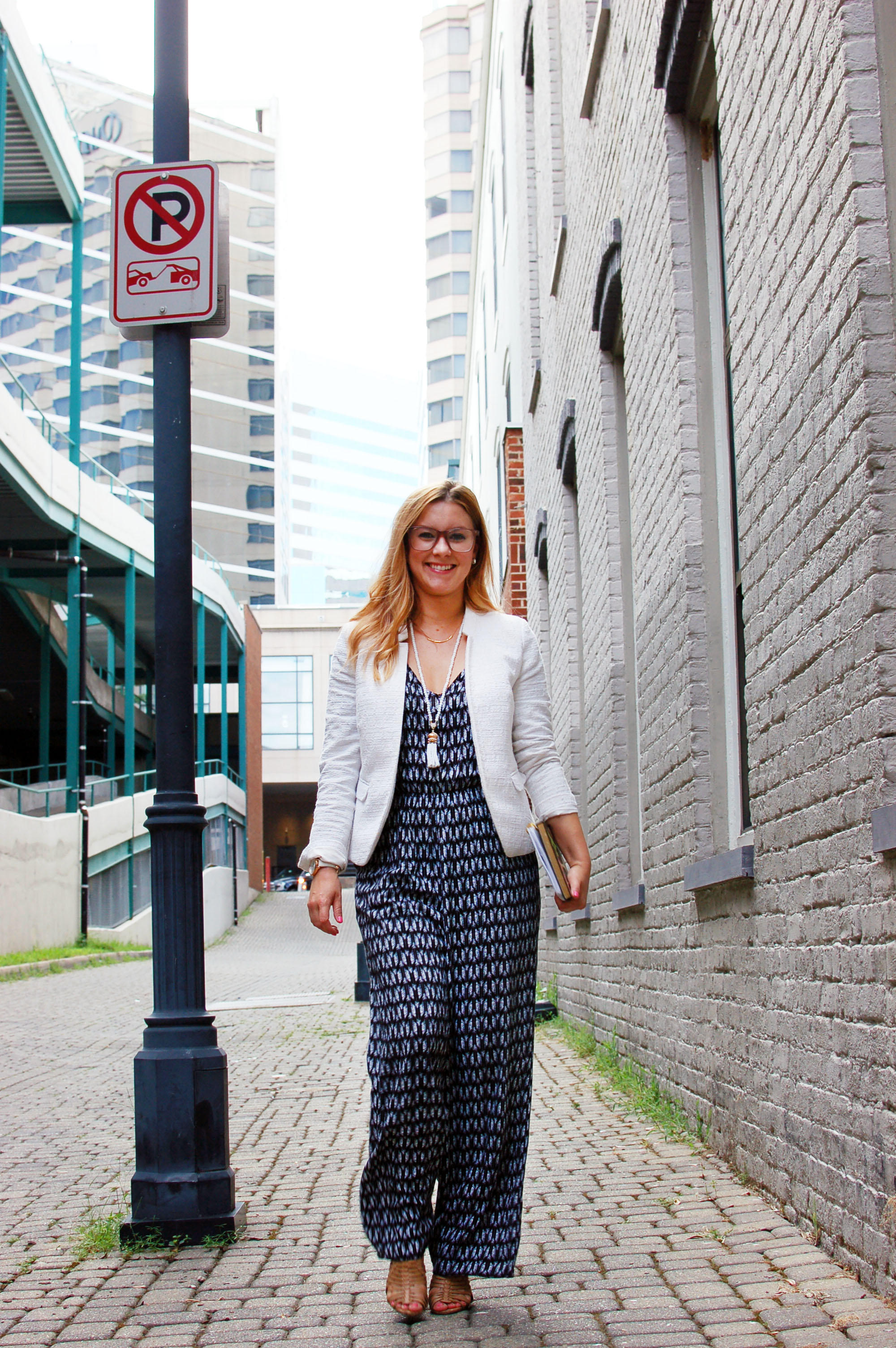 A Retro Work Wear Upgrade With A Jumpsuit And Glasses