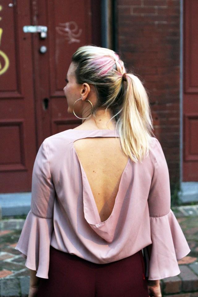 millennial pink bell sleeve shirt