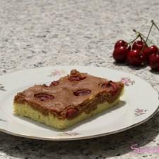 Nougat-Marmorkuchen mit Kirschen … (vegan)