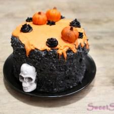 Halloween-Special II … Schwarzer Sesam Kuchen (vegan)