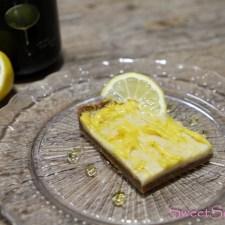 rohe Zitronenschnitte mit Olivenöl (vegan)