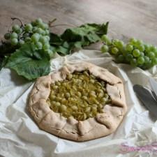 Galette mit Weintrauben (vegan, gf)