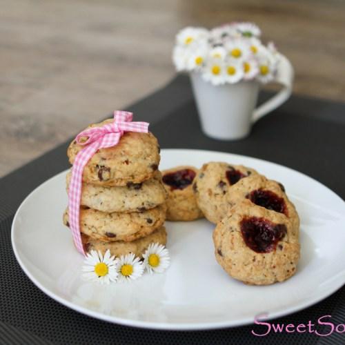 Cookies mit Brombeeren … (vegan)