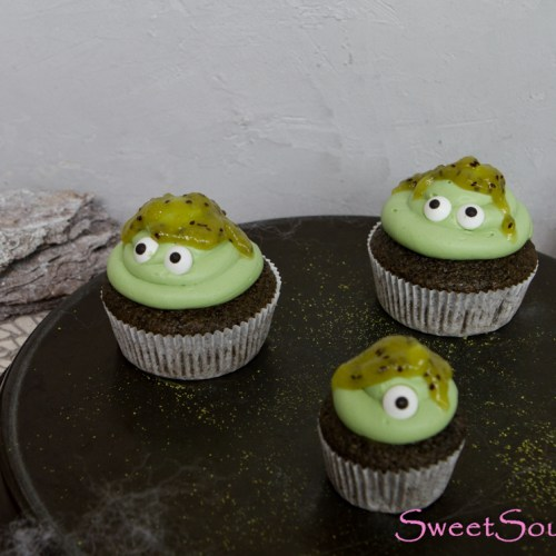 Halloween-Special III: Monster-Cupcakes … (vegan)