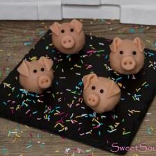 Glücksschweinchen-Kuchenpralinen … (vegan)