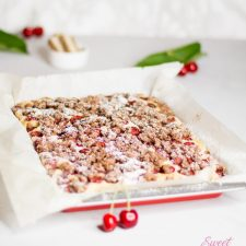 Streuselkuchen mit Kirschen und Schnittenstreusel … (vegan)