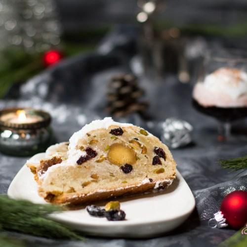 Weihnachtsstollen und Rotwein-Kirschlikör … (vegan)