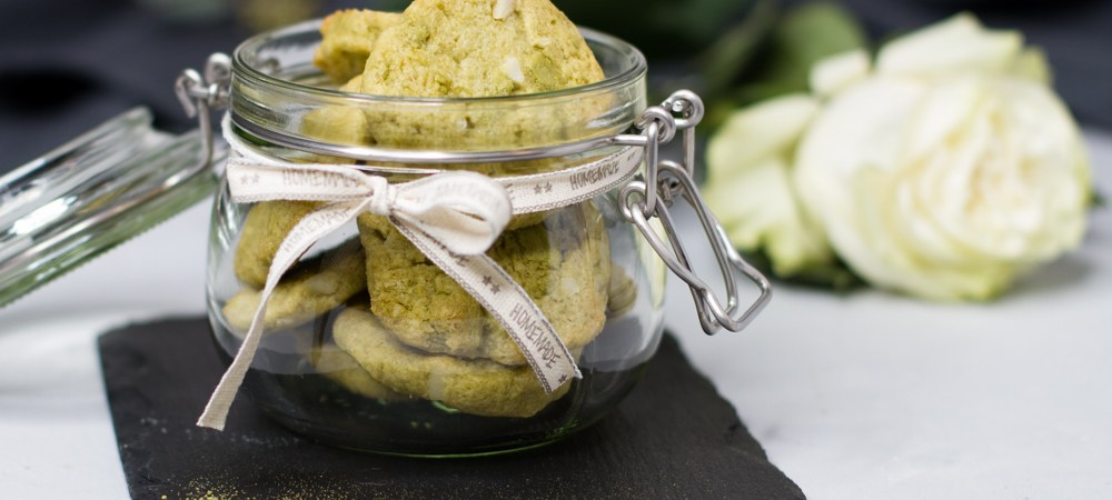 Matcha-Macadamia-Cookies … (vegan)