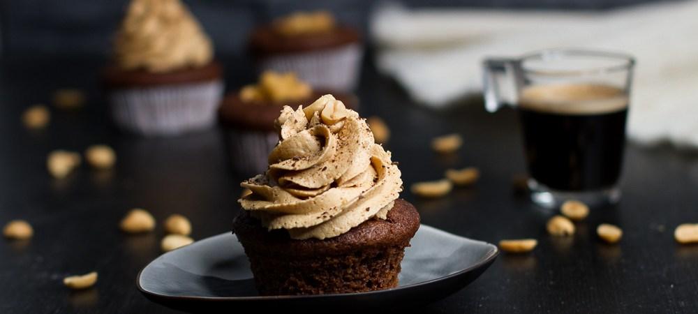 Snickers-Cupcake … (vegan)