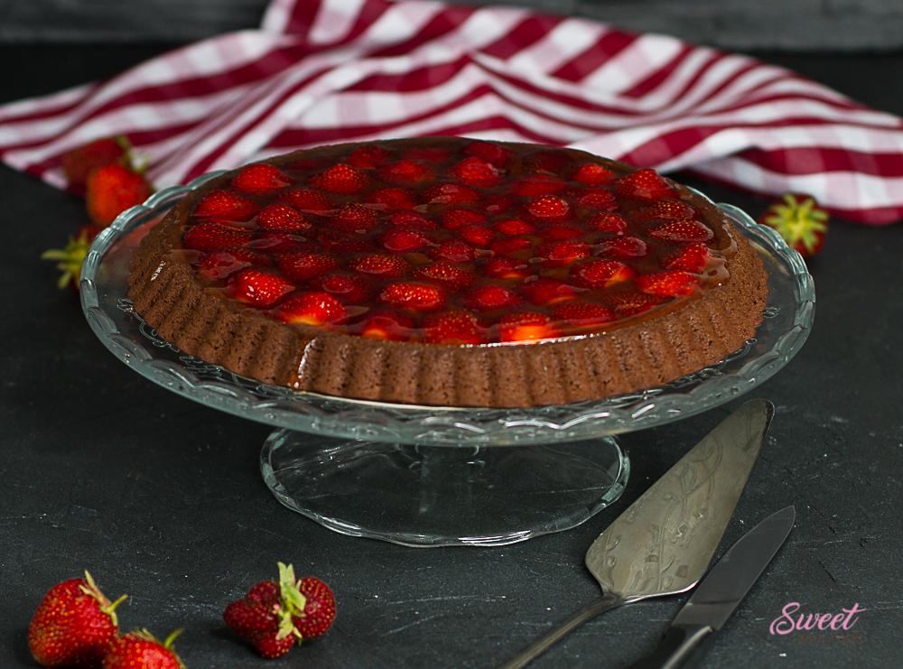 Schokolade-Erdbeer-Kuchen