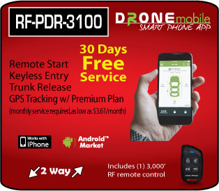 Compustar RF-PFR3100 Drone remote start