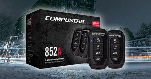 A well-equipped car alarm system such as the Compustar CS852-A is an ideal way to protect your vehicle and its contents.