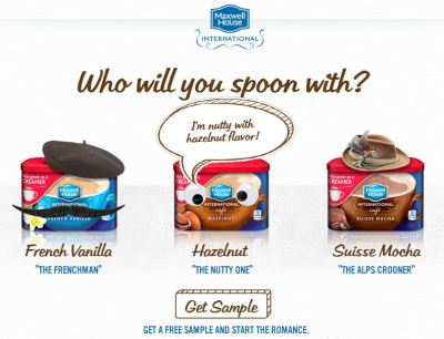 Free Sample Maxwell House International Cafe Coffee Creamer