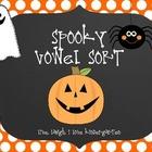 Spooky Vowel Sort FREEBIE