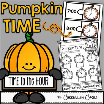 Pumpkin Time Center: Telling Time to the Hour FREEBIE!