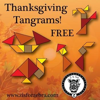 Thanksgiving/Autumn Tangrams - FREE {ZisforZebra}