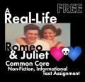 Real-Life Romeo & Juliet, FREE Common Core-Aligned Non-Fiction Lesson