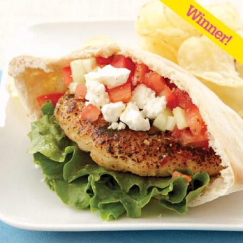 Super Bowl LII Greek Turkey Burgers recipe