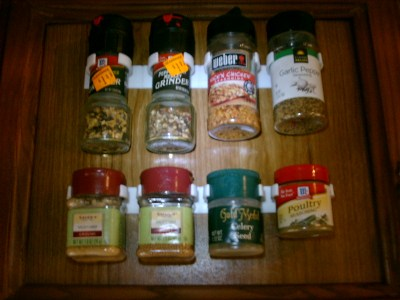 Spice Gripper Strips – fast, inexpensive, and convenient way to organize!