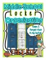 Back to School Middle School Organization: Locker Printable