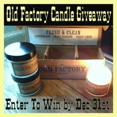 Old Factory Candle Gift Set Review and Giveaway