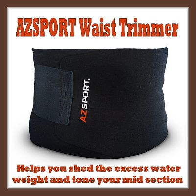 AZSPORT Waist Trimmer- Your Portable Sauna Belt to Accelerate Weight Loss for a trimmer and toned abs!