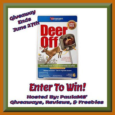 Deer Off Season-Long Protection Against Destructive Deer Giveaway ends 6/27