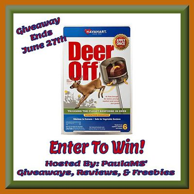 Deer Off Giveaway ends 6/27 #DeerRepellent @Havahart_brand