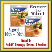 Two Terro Fruit Fly Apple Traps Giveaway