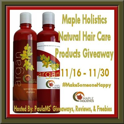 Maple Holistics Natural Hair Care Shampoo and Conditioner #Giveaway on the #MakeSomeoneHappy Hop That Ends 11/30