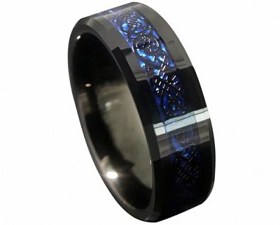 Celtic Dragon Tungsten Carbide Ring