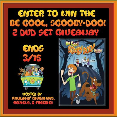 Get those Scooby snacks ready! Be Cool Scooby-Doo! DVD Release Giveaway Ends 3/15