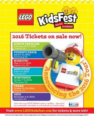 USFG and Lego KidsFest Announce 2016 Tour Stops #LegoKidsFest @LegoKidsFest