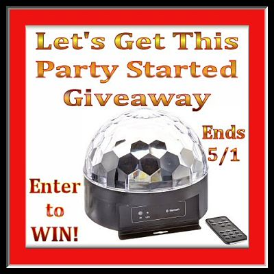 1byone Disco Ball in the Let's Get This Party Started Giveaway ends 5/1