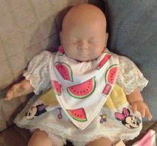 U.S. Bilby Baby Bandana Drool Bib On Newborn Doll