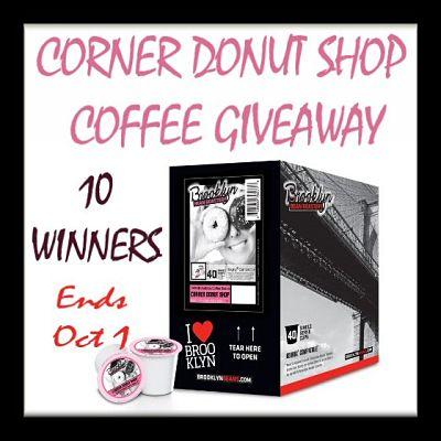 10 Winners - Corner Donut Shop Coffee Giveaway