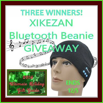 2016 Ultimate Holiday Gift Guide XIKEZAN Bluetooth Beanie Giveaway