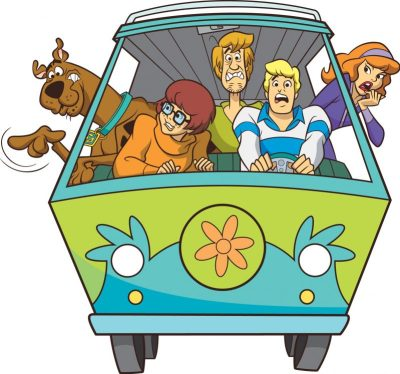 Scooby Gang In Mystery Machine