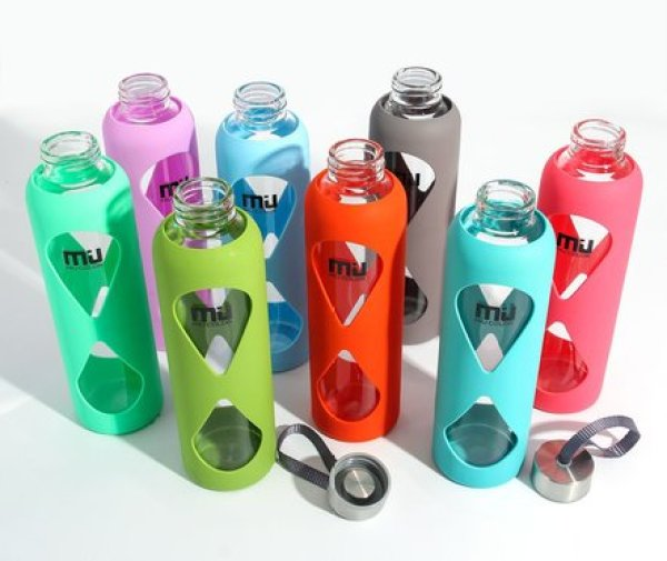 NEW! MIU COLOR Glass Bottle With Anti-slip Silicone Sleeve