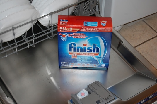 Everyday Saves - Spring cleaning with your dishwasher! Finish all in 1: For tough stain removal, use a Detergent Booster