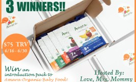 Amara Organic Baby Food Giveaway Ends 6/30