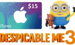 Despicable Me 3 iTunes & Interactive Minion Giveaway Ends 7/5