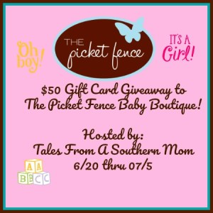 Picket Fence Baby Boutique $50 Gift Card Giveaway