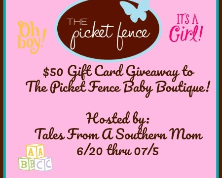Picket Fence Baby Boutique $50 Gift Card Giveaway Ends 7/5