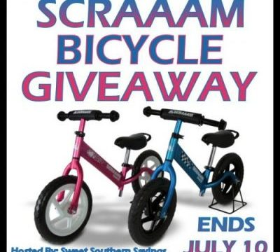 Summer's Here! SCRAAAM Balance Bike Giveaway Ends 7/10